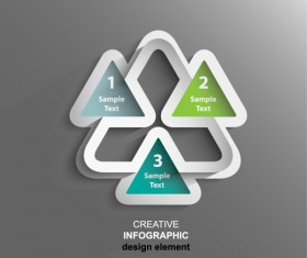 Triangle numeric infographics vector