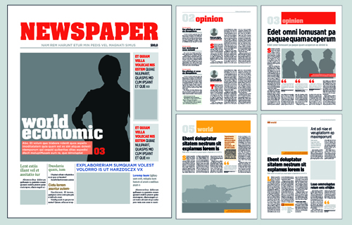Typesetting Newspaper Vector Templates 02 Free Download