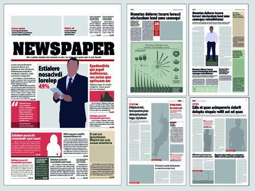Newspaper design template vector. | stock vector | colourbox.