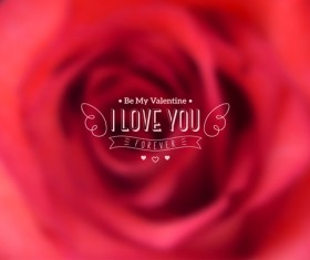 Valentines day blurred flower background vector 02