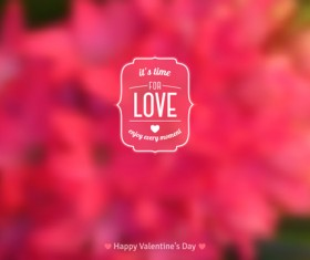 Valentines day blurred flower background vector 03