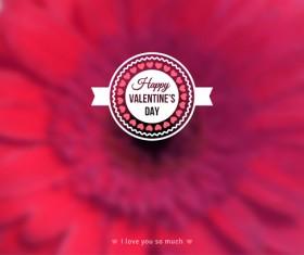 Valentines day blurred flower background vector 04