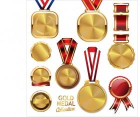 Various gold medal vector set.