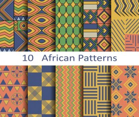 Vector african style seamless patterns