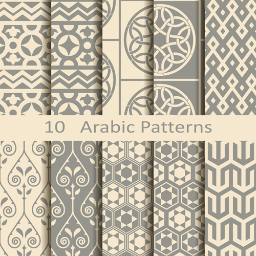 Vector arabic style seamless patterns 02 vector pattern for Arabic decoration style
