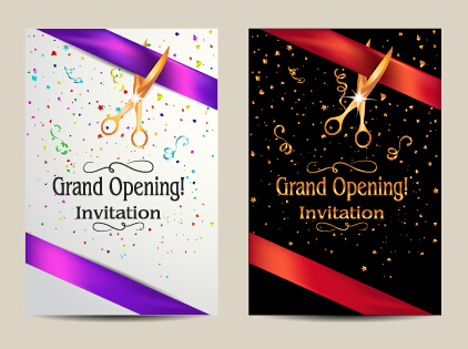 Vector big opening invitation cards set 02 free download vector big opening invitation cards set 02 stopboris Gallery