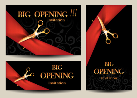 Vector big opening invitation cards set 07 free download vector big opening invitation cards set 07 stopboris Gallery