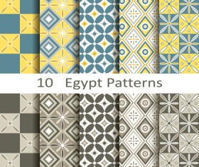 Vector egypt style seamless patterns