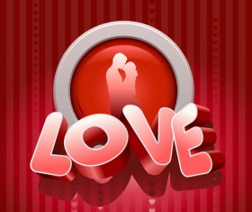 Vector set of Valentine Day elements background 01