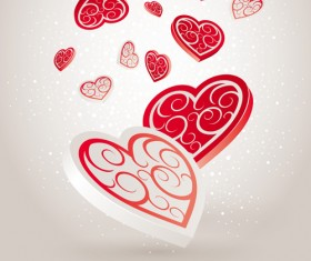 Vector set of Valentine Day elements background 02