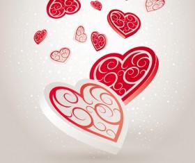 Vector set of Valentine Day elements background 02