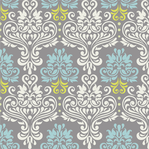 Vintage floral decor pattern seamless vector - Vector ...