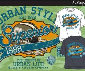 Vintage style graphics T-shirt design vector 04