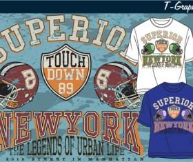 Vintage style graphics T-shirt design vector 05