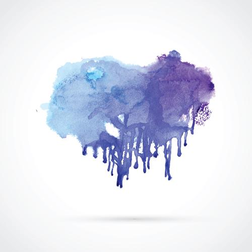 Watercolor grunge effect vector material 03