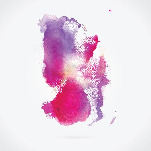 Watercolor grunge effect vector material 05