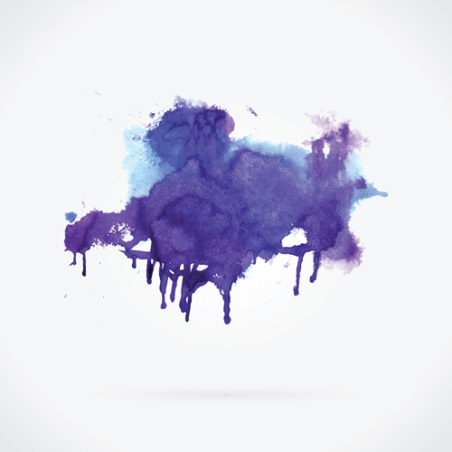 Watercolor grunge effect vector material 07