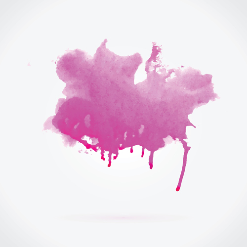 Watercolor grunge effect vector material 09