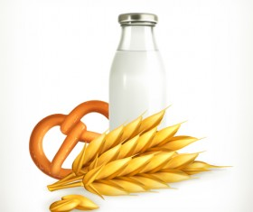 Wheat and milk vector material