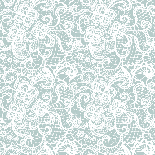 White lace seamless pattern background vector