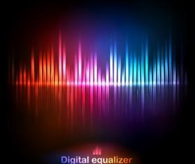 digital equalizer colorful background vector