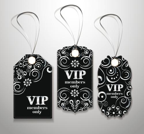 luxurious VIP tags vector set 01