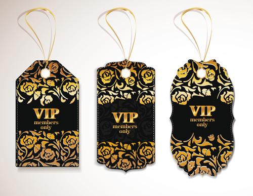 luxurious VIP tags vector set 02