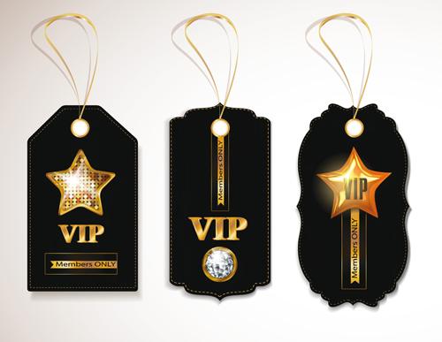 luxurious VIP tags vector set 05