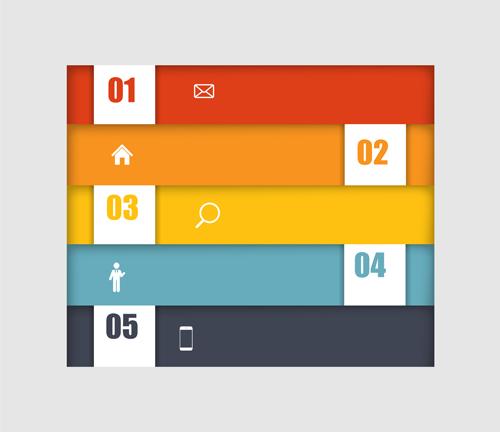 numbered web banner vector design