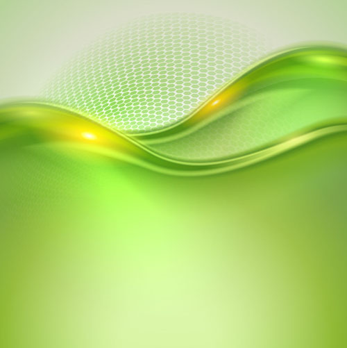 wavy green background vector - photo #13