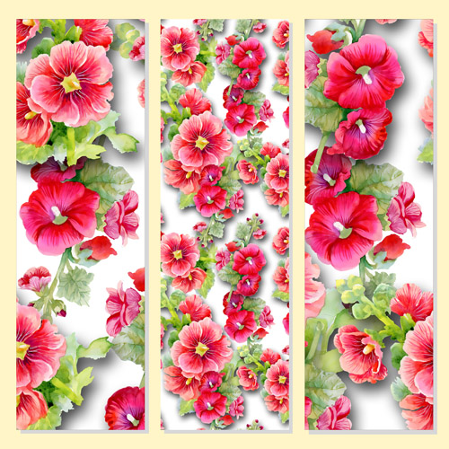 beautiful flowers design banners vector set 06 free download