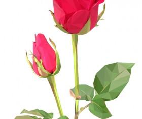 Beautiful roses vector material 06