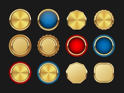 Blank golden medal vectors material
