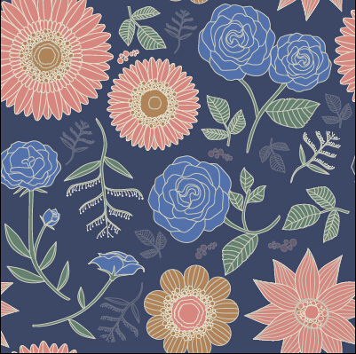Classical flowers pattern seamless vector set 01