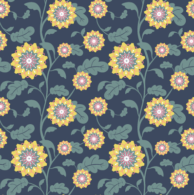 Classical flowers pattern seamless vector set 04