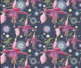 Classical flowers pattern seamless vector set 06