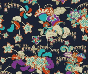 Classical flowers pattern seamless vector set 07