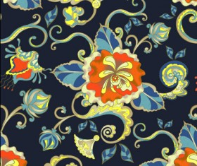 Classical flowers pattern seamless vector set 08