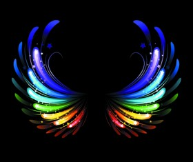 Colored light wing vector material