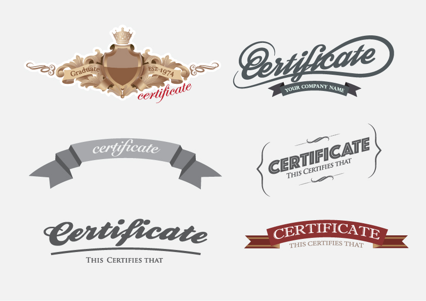 Creative Certificate And Diploma Labels Vector Vector