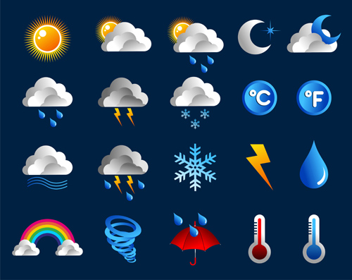 Creative Weather Icons Vector Material Other Icons Free