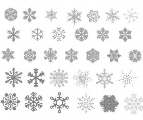 Different gray snowflake icons material