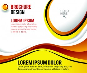 Flyer and cover brochure abstract styles vector 06