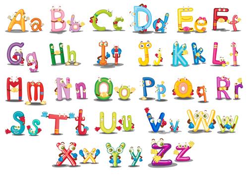 Cartoon Characters Letter Z : Funny cartoon alphabet vector graphics