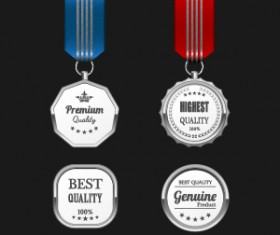 Gorgeous medal award vector 04