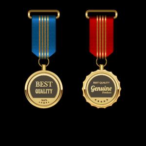 Gorgeous medal award vector 07