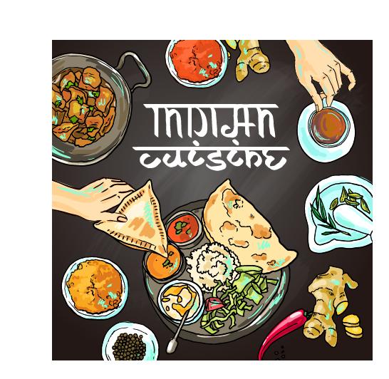 Hand drawn indian food elements vector 04 vector food free download hand drawn indian food elements vector 04 forumfinder Images