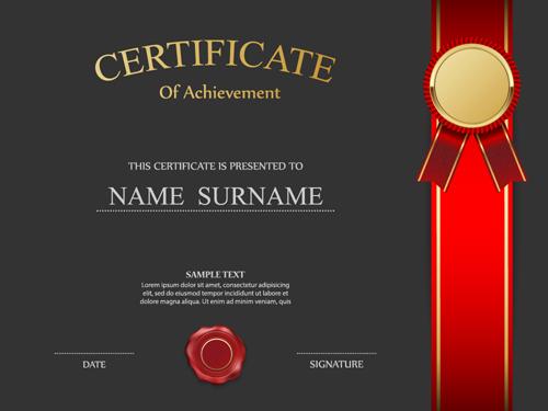 Honor certificate creative design vector 04 Vector Cover free – Creative Certificate Designs