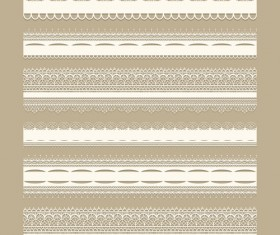 Lace borders ornate vector material