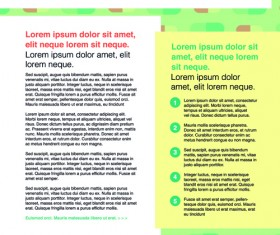 News page layout design vector 03